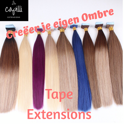 Create your own Ombre TAPE extensions